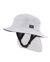 Mens Indo Stiff Peak Surf Hat - White Marle