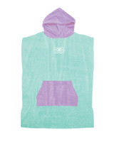 Youth Hooded Poncho - Mint