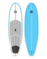 Cruiser Epoxy/Bamboo SUP Board - Blue 9'6""
