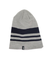 Mens Sharkskin Beanie-Grey Stripe