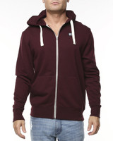 Big Mens Corp Zip Hoodie-Burgundy