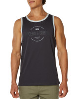 Big Mens Bullseye Singlet-Charcoal