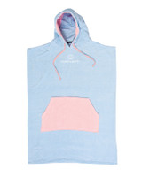 Ladies Day Dream Hooded Poncho - Pale Blue