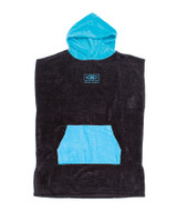 Youth Hooded Poncho - Black