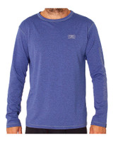 Mens Surf LS Shirt - Navy Marle