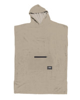 Mens Lightweight Hooded Poncho - Taupe