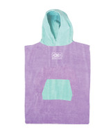 Toddlers Hooded Poncho - Violet