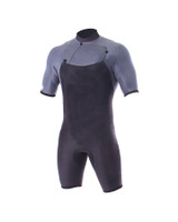 Mens Double Black Chest Zip Spring Suit - 2/2mm
