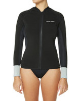 Ladies LS Front Zip Paddle Vest - Black