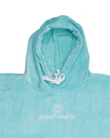 Ladies Hooded Poncho - Ice Blue
