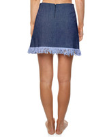 Ladies Good Vibes Skirt - Blue Denim