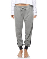 Ladies Switch Trackpant-Grey Marle / Dusted Black