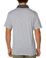 Mens Double Up Polo-Light Grey Marle