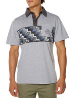 Big Mens Double Up Polo-Light Grey Marle
