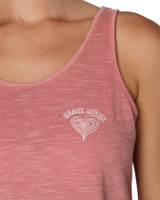 Ladies Beach Lover Tank-Clay