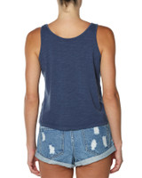 Ladies Beach Lover Tank-Dark Denim
