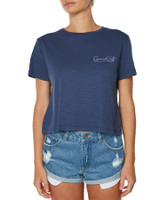 Ladies Warm Hearts Tee-Dark Denim