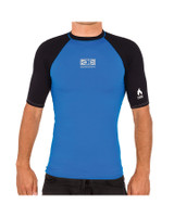 Boys Flame Short Sleeve Thermo Skin - Blue