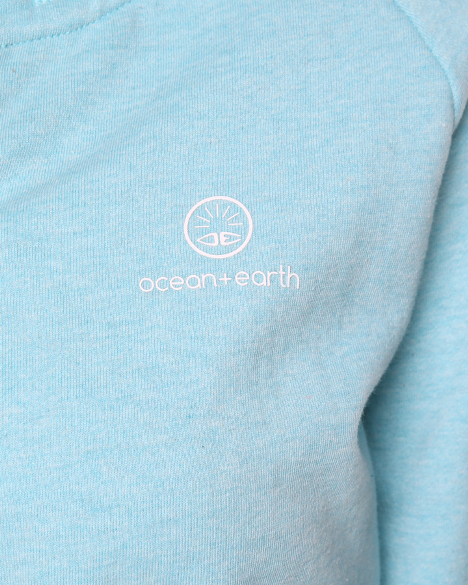 958e7aab Ladies Cali Zip Hoodie - Aqua Marle - Ocean & Earth