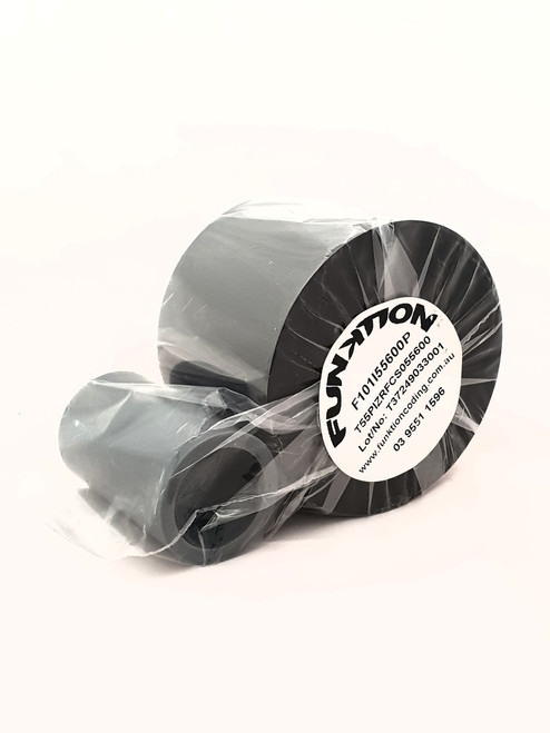 F101 55mm x 600m Wax Resin thermal ribbon to suit Smartdate printers