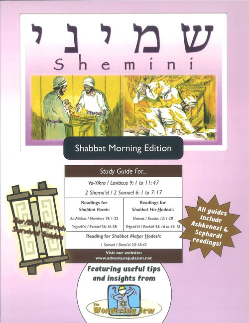 Shemini (Va-Yikra/Leviticus 9:1 to 11:47) Shabbat Morning Edition