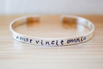 Amor Vincit Omnia Bracelet {Sterling Silver}