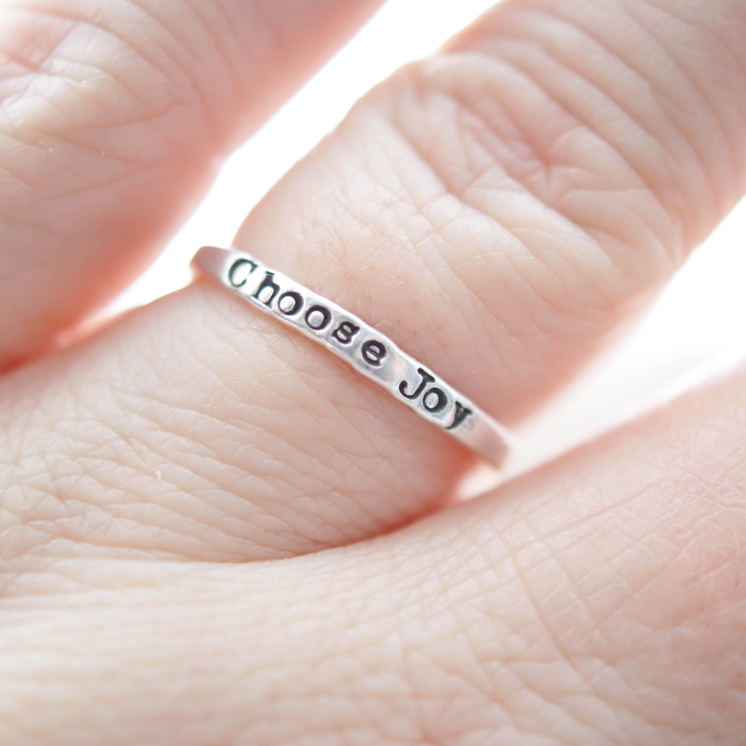 Choose Joy Ring in Sterling Silver