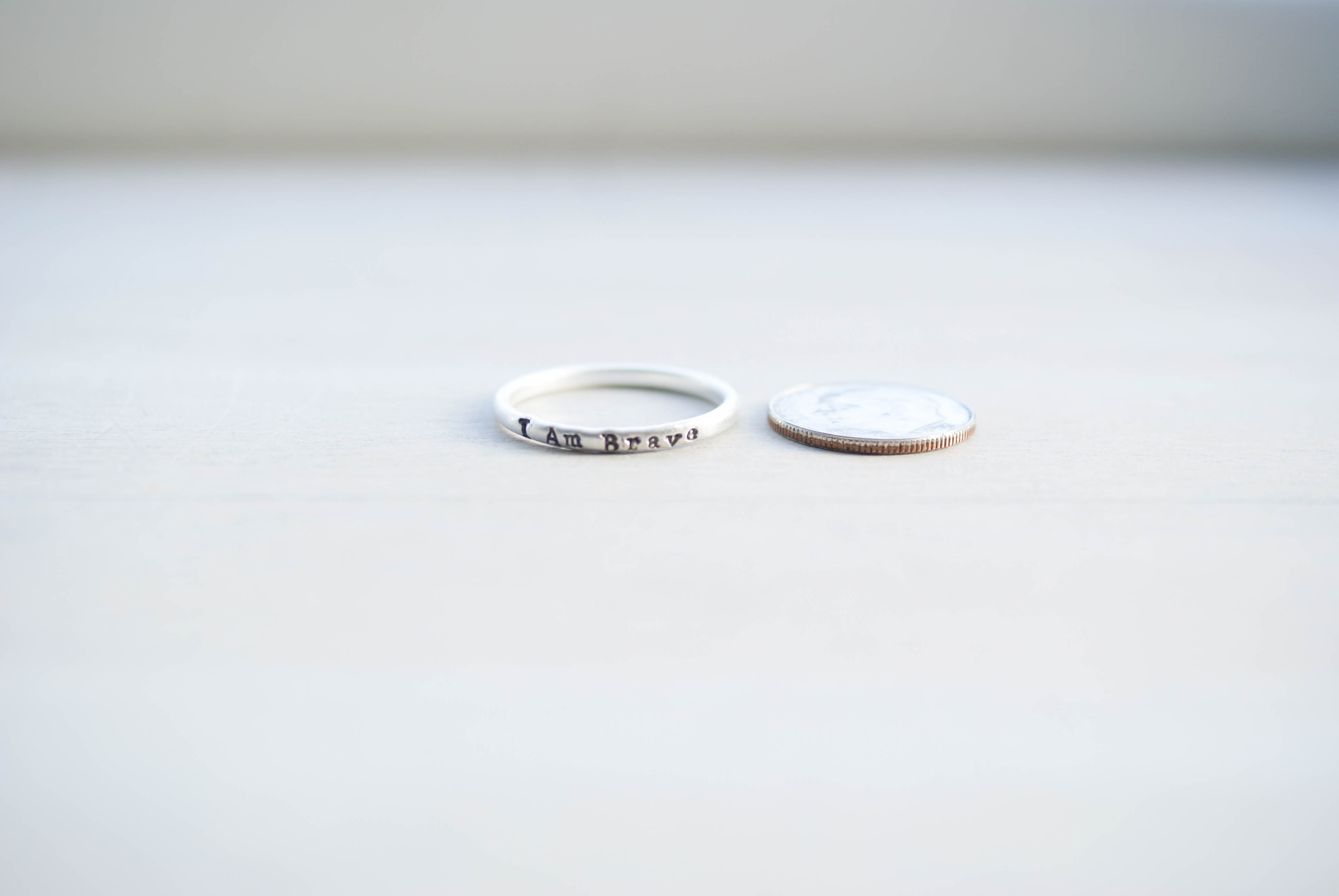 Strong Brave Enough Ring Trio {sterling silver}