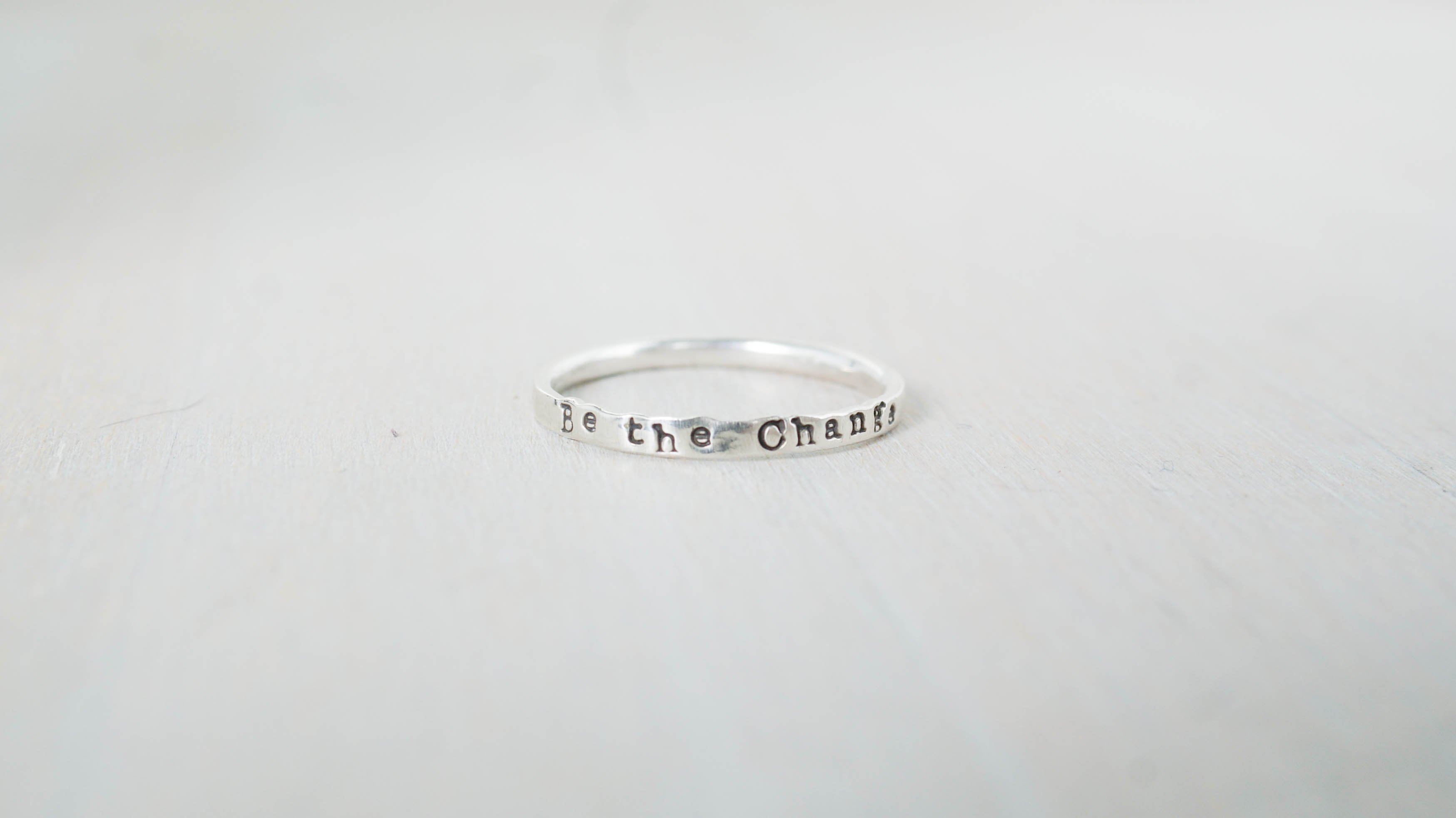 Be the Change, change your world  ring