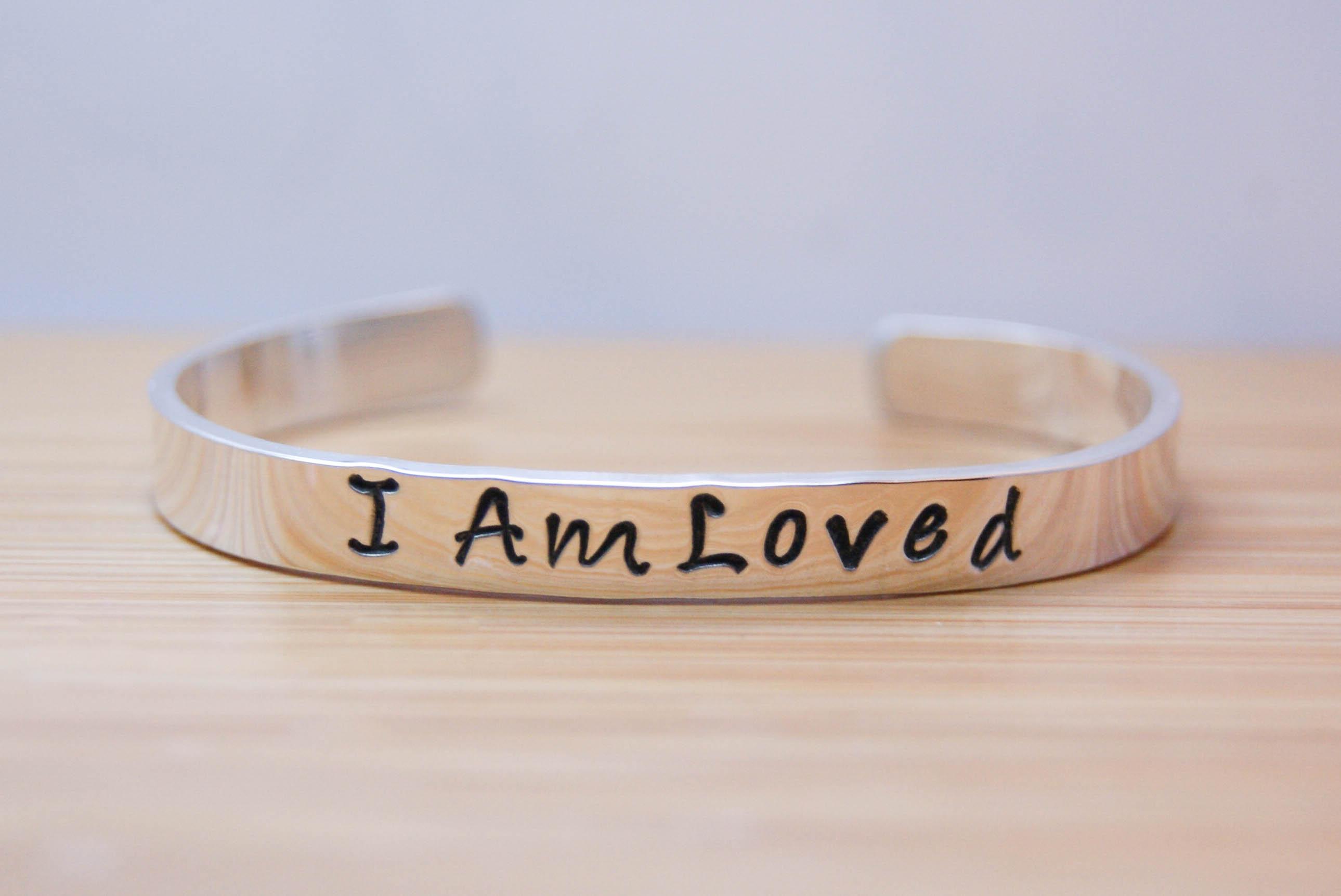 I Am Loved Bracelet {sterling silver}