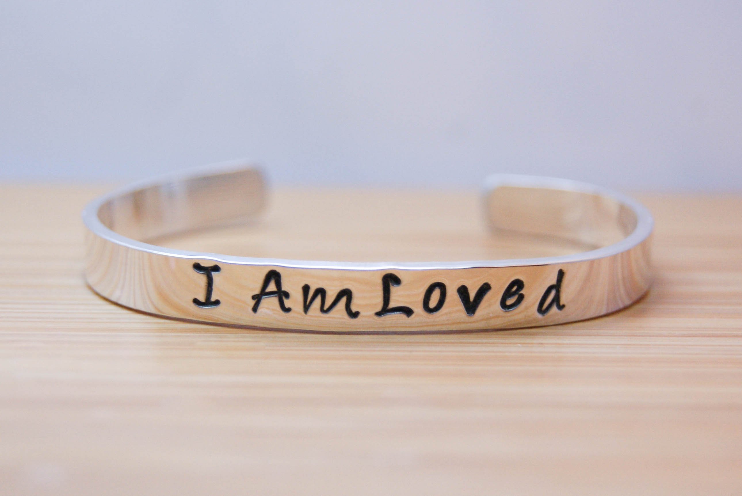 I am Loved Sterling Silver Bracelet