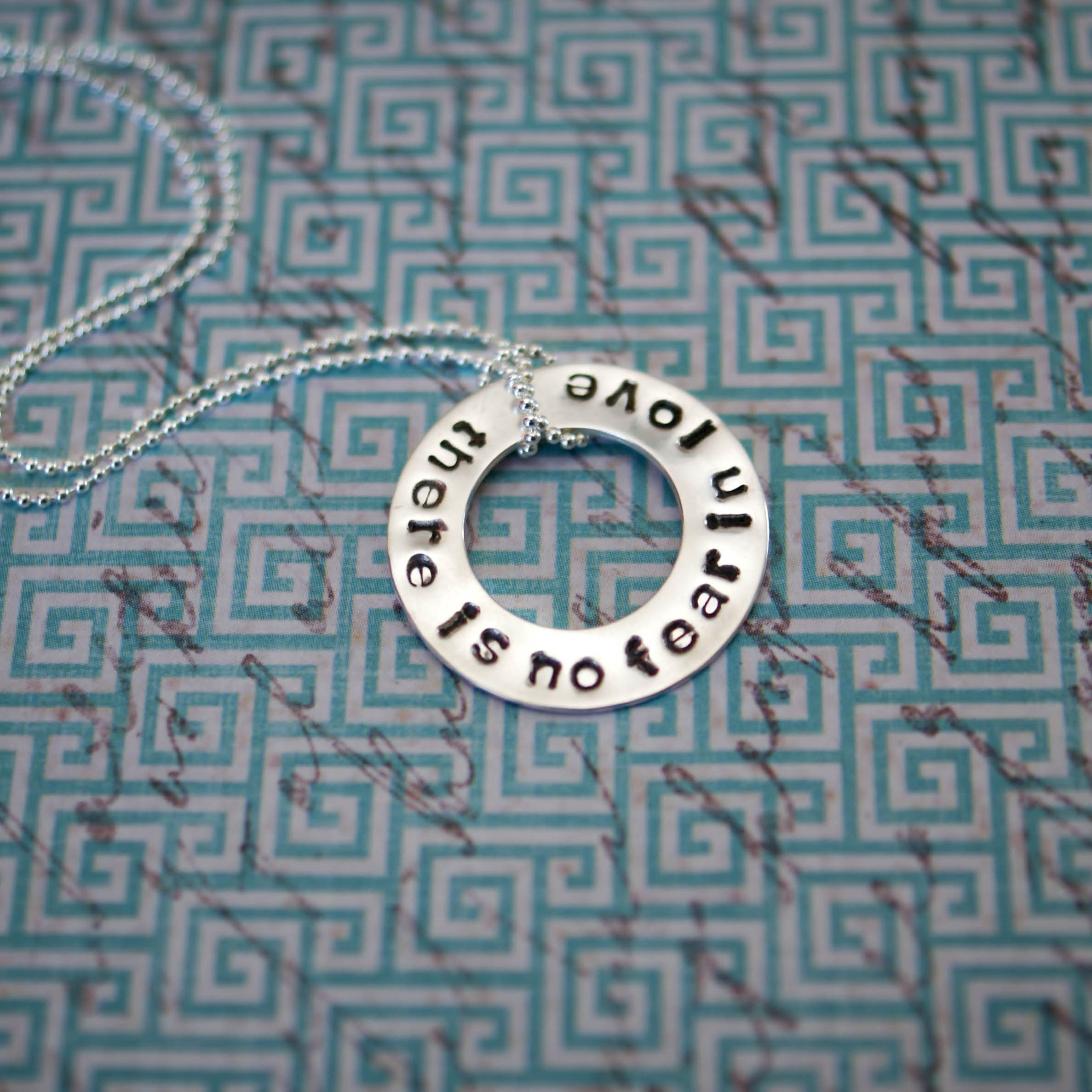 There is no fear in love necklace