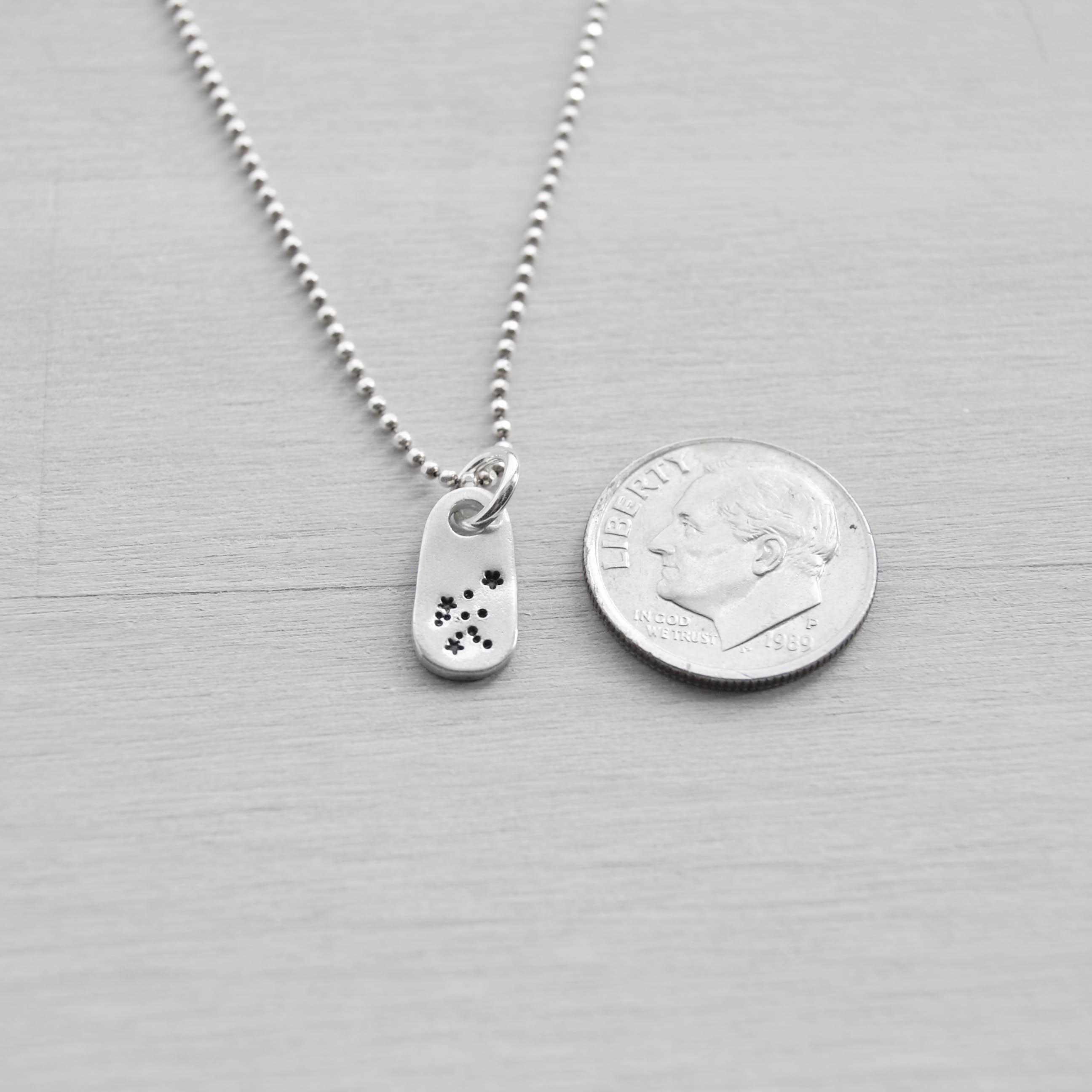 Aquarius Constellation Zodiac Necklace