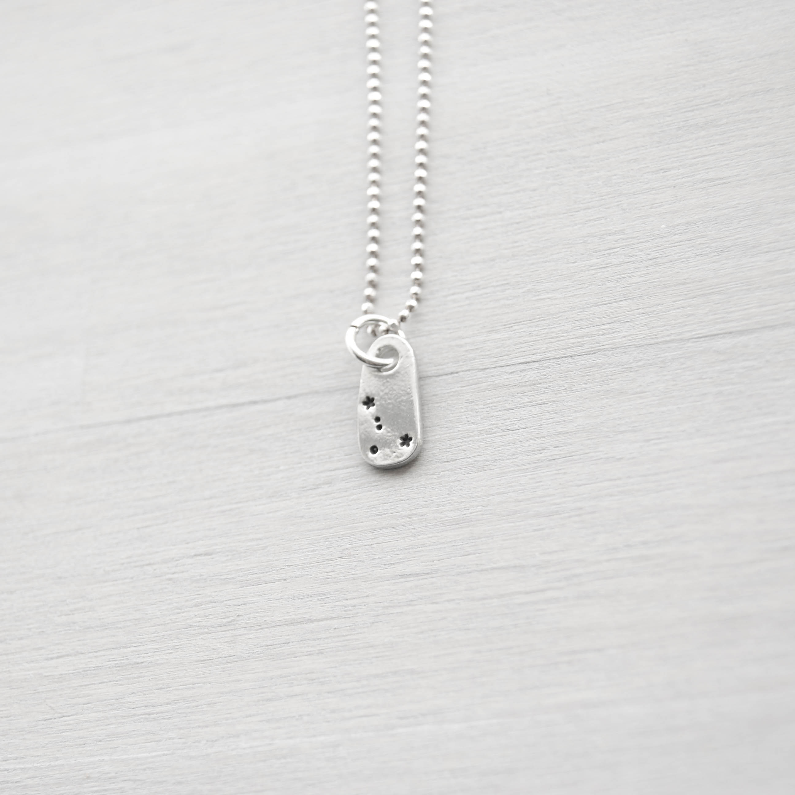 Cancer Zodiac Constellation Necklace in Artisan Pewter