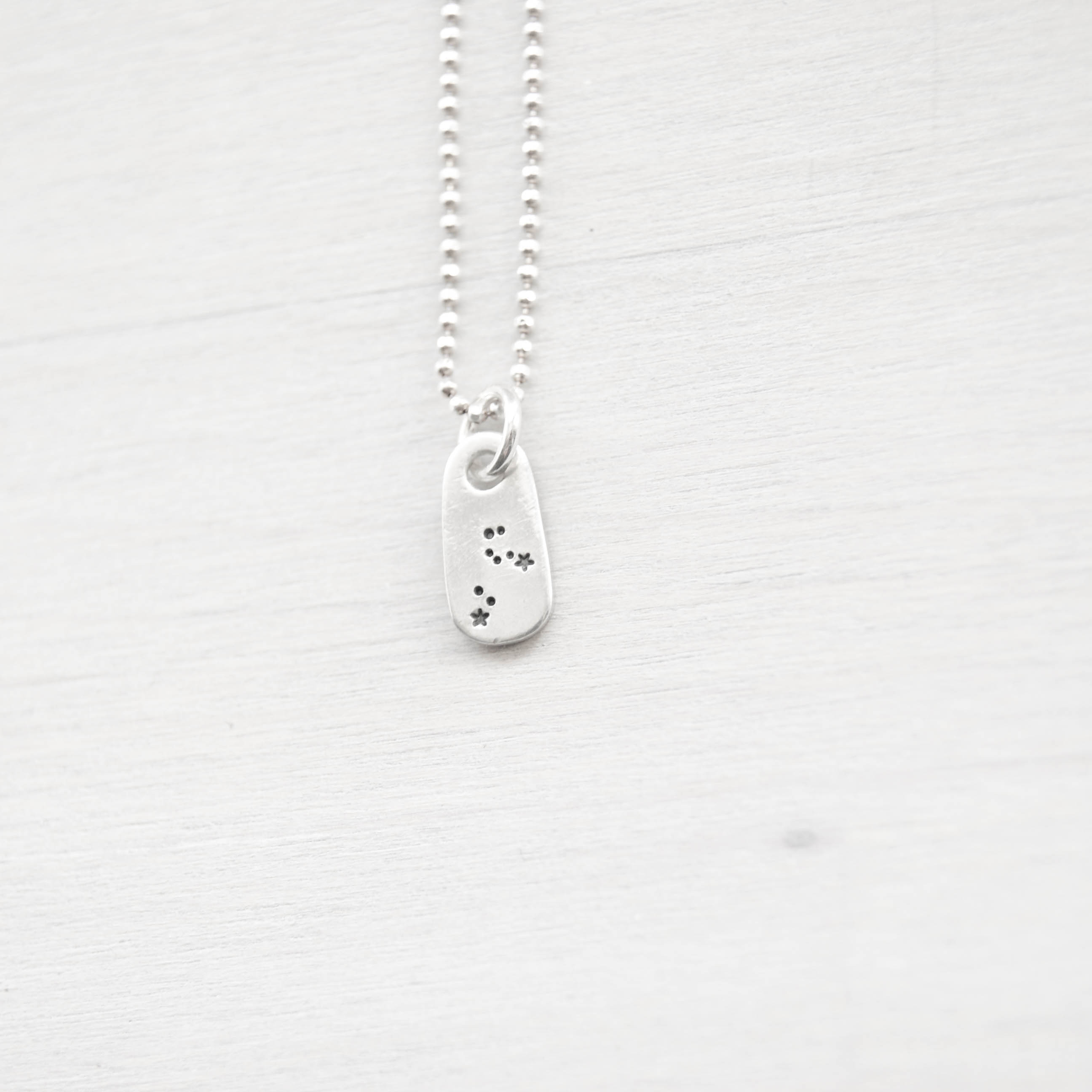 Leo Constellation Zodiac Necklace in Artisan Pewter