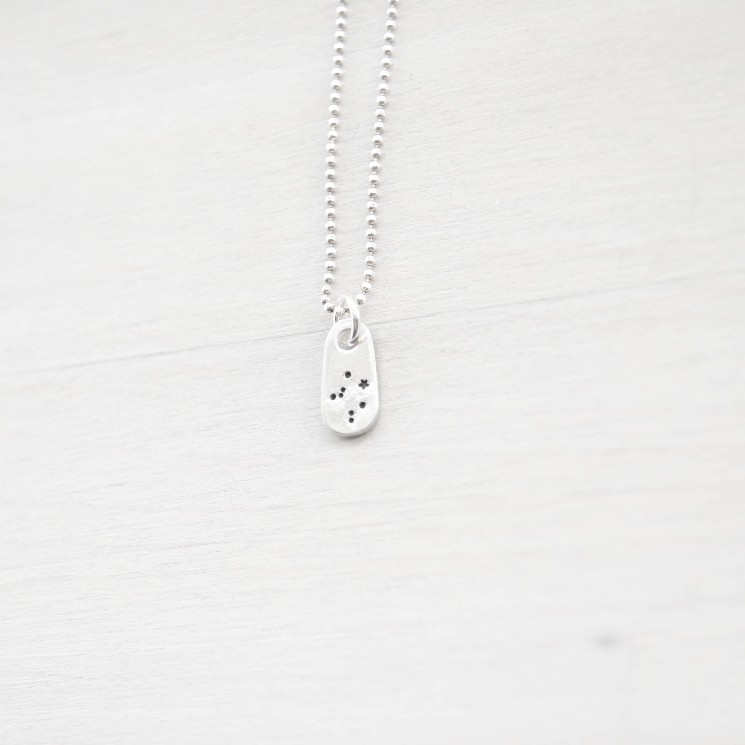 Libra Constellation Zodiac Necklace in Artisan Pewter