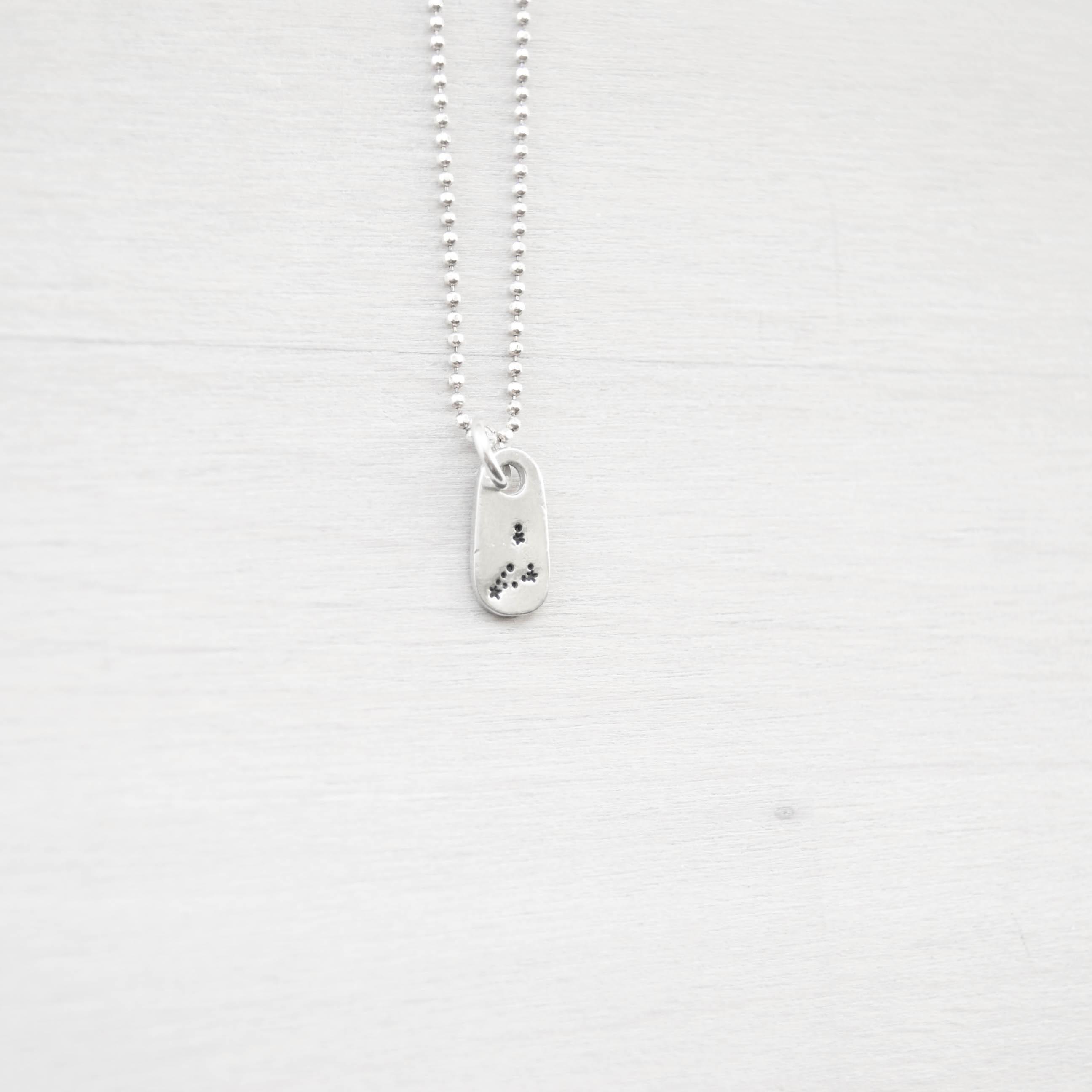 Capricorn Constellation Zodiac Necklace in Artisan Pewter