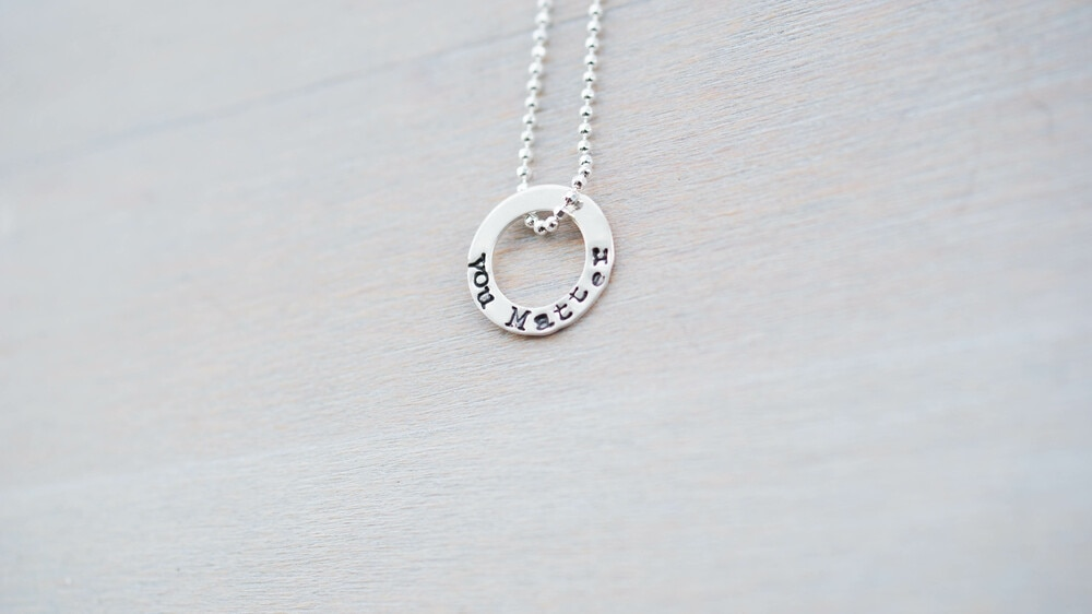 You Matter Mental Health Ring in Sterling Silver