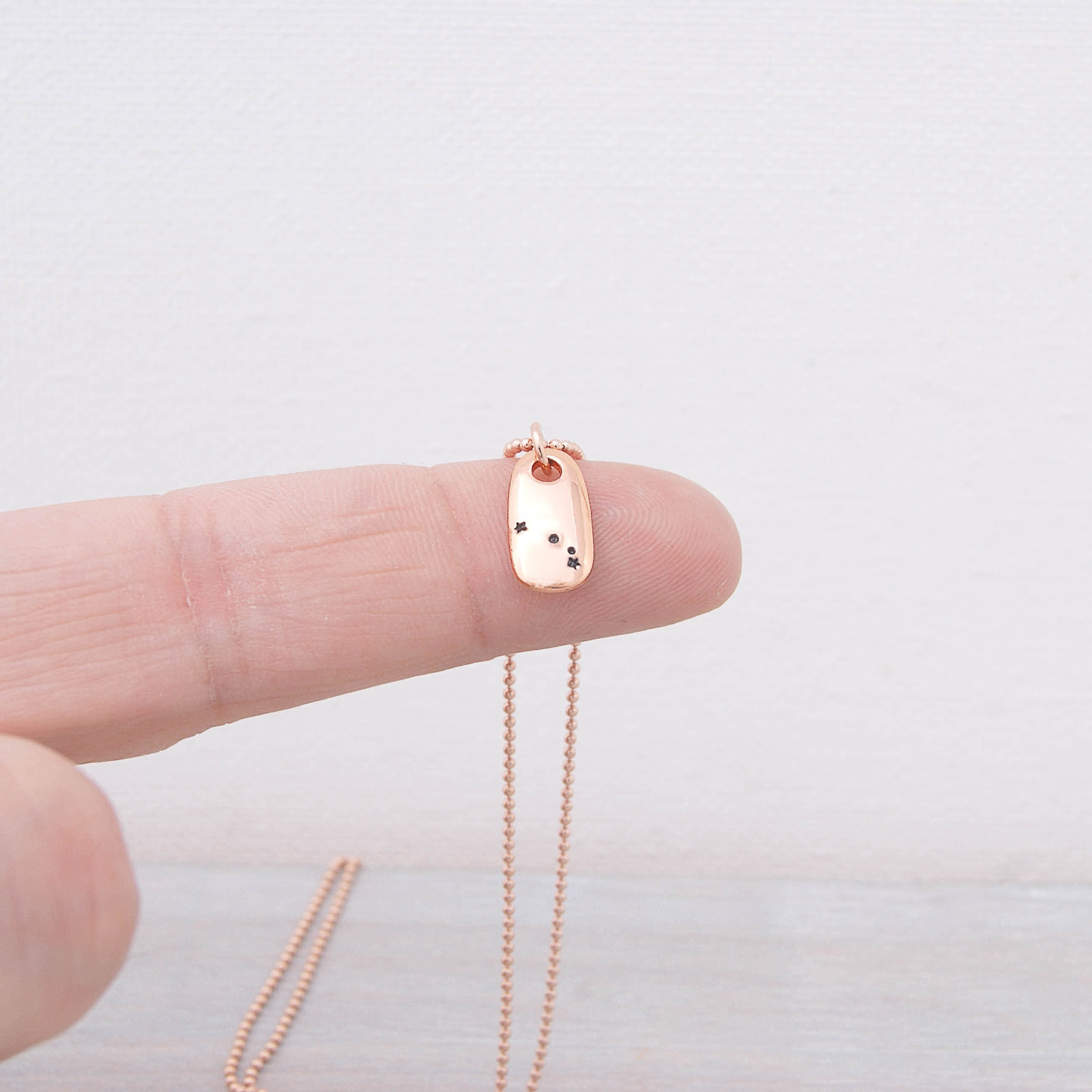Aries Constellation Zodiac Rose Gold Necklace