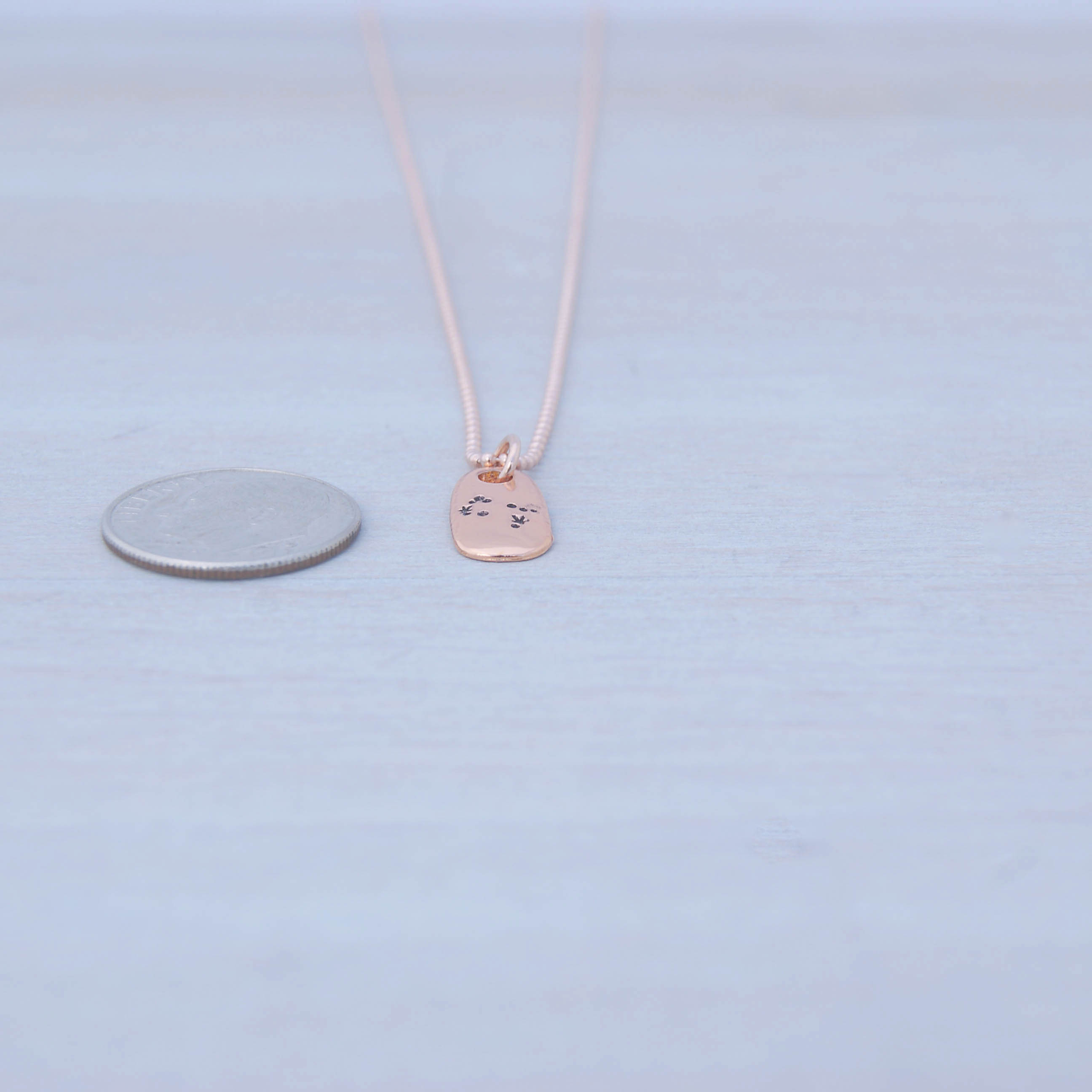 Gemini Zodiac Constellation Necklace in Rose Gold