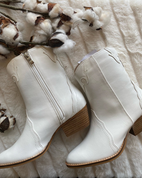 Casual White High Top Boots, White