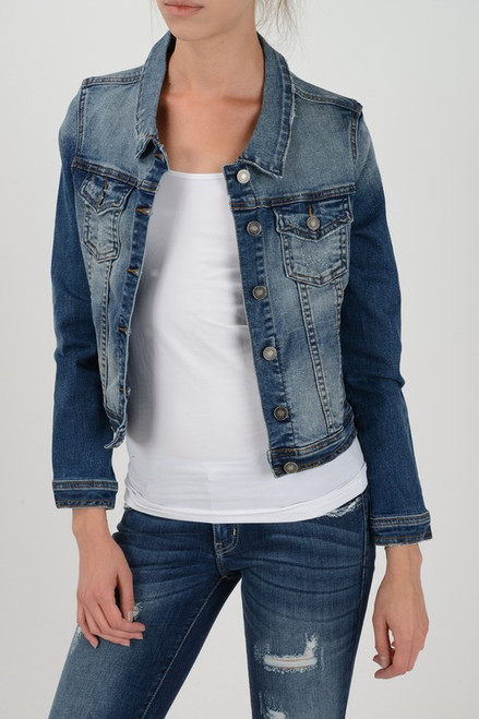 Denim Cropped Jacket, Denim