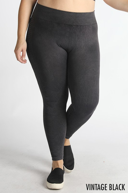 Curvy Seamless Leggings, Black