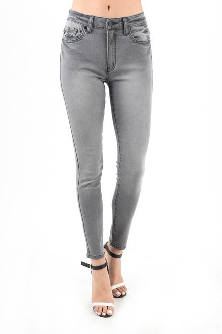 High Rise SS Jean, Faded Black