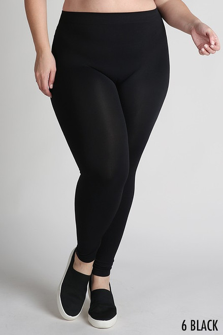 Curvy Leggings, Black