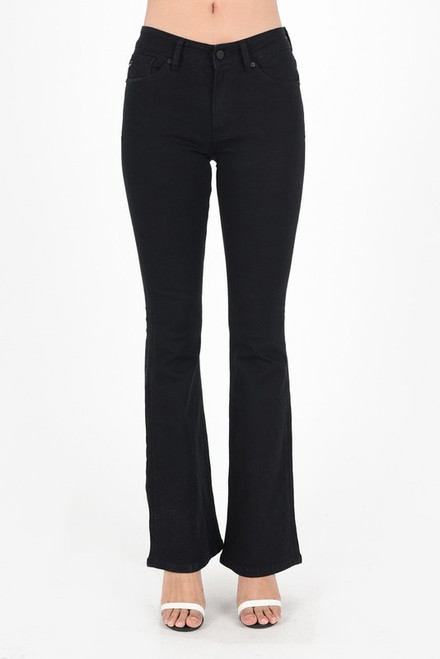 Mid Rise Flare Jean, Black