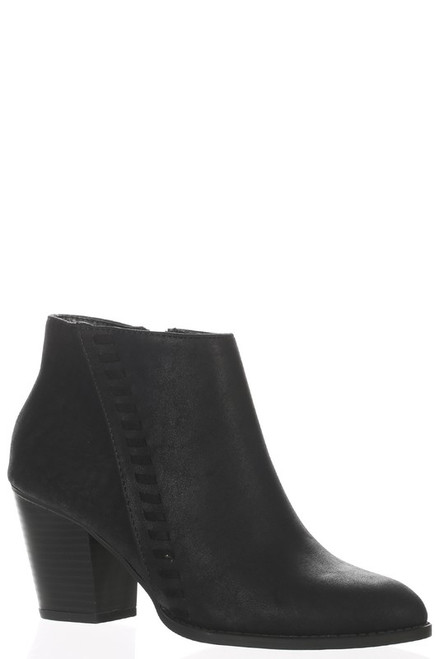 Chunky Heel Ankle Bootie, Black