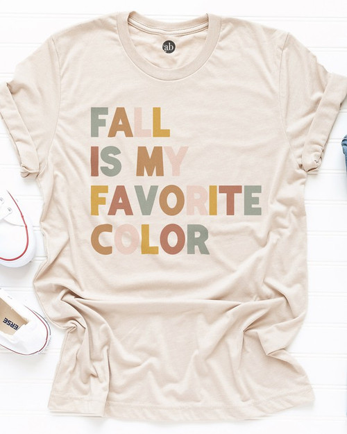 Fall is my Favorite Color Tee, Soft Cream