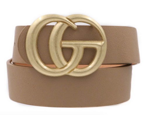 Gucci Inspired Belt, Brown