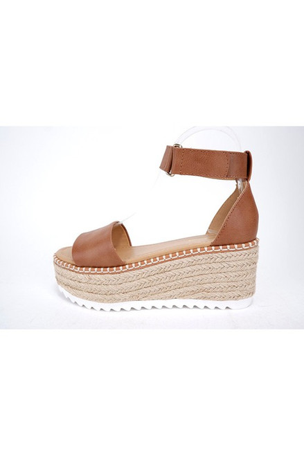 Molly Platform Wedge, Tan